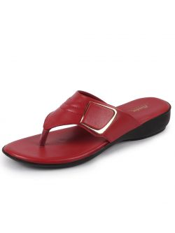 Comfortina by Bata Women's Red Thong Slip On Sandals